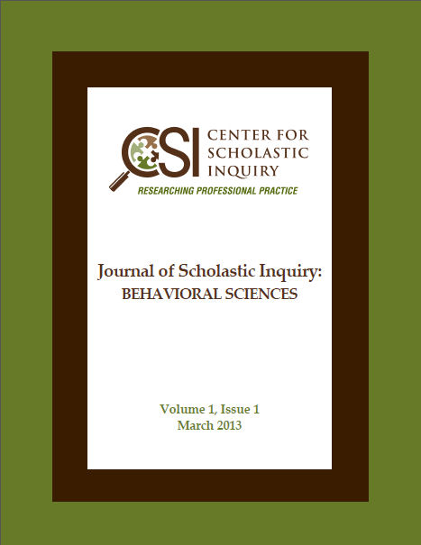 Center for Scholastic Inquiry Journal of Scholastic Inquiry:  Behavioral Sciences